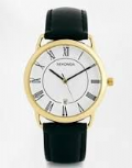 Sekonda 3477 Gents Quartz Analogue Leather Upper Strap Date Watch